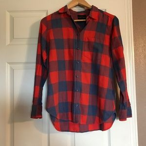 J Crew Flannel button-down